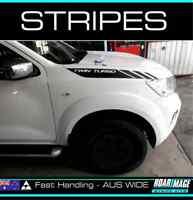 BONNET Stripes fit NP300 Nissan Navara 2015-2019 decals stickers 4wd 4x4 TURBO