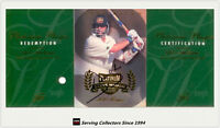 1996/97 Futera Cricket Decider Cards Platinum Signature Card STEVE WAUGH SW1