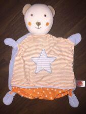 Schmusetuch Kuscheltuch Schnuffeltuch Baby Fehn C&A Teddybär Stern Orange Blau
