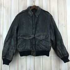 Vintage Avirex A-2 Flight Flying Bomber Pilot USAF Biker Leather A2 Jacket S / M