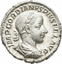 ROMAN EMPIRE GORDIAN DENARIUS ROME DIANA LUCIFERA TORCH SILVER XF.