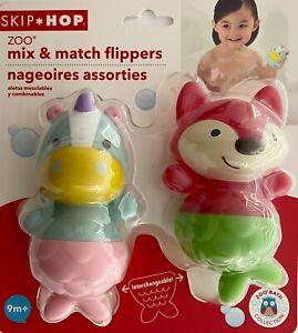 Skip Hop Mix and Match Flippers Bath Toys Fox/Unicorn