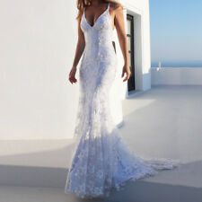 Women Evening Dresses Sexy Harness Sequins V-Neck Sleeveless Wedding Long Dress