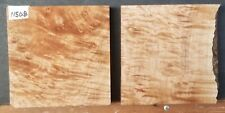 FIGURED WESTERN QUILTED MAPLE WOOD 11508 TURNING LUMBER TWO BOWL BLANK