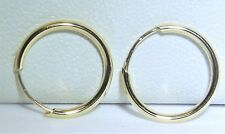 A FINE PAIR OF 9CT YELLOW GOLD  HOOPS  SLEEPER EARRINGS
