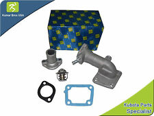 New Kubota Water Flange, Cover & Thermostat with Gaskets M4700 M4700DT