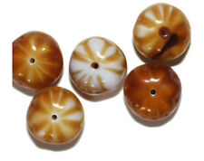 Honey Pumpkin Czech Pressed Glass Beads 12x17mm (pack of 5)