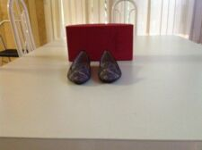 VALENTINO CRYSTAL LACE SMOKING SLIPPERS SZ 35.5