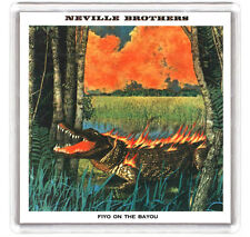 THE NEVILLE BROTHERS FIYO ON THE BAYOU 1981 LP COVER FRIDGE MAGNET IMAN NEVERA