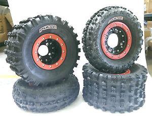 Hiper CF1 Beadlock Wheels CST Pulse Tires Front/Rear Kit Yamaha Raptor 700 660