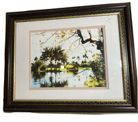 Palm Island  Art signed numbered framed photograph  digital impressionism R/YA