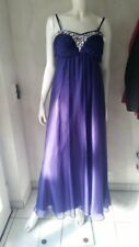 APART Vestido de noche en PURPLE Púrpura y brillo 40 talla NUEVO