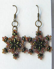 """Camouflage """"Lucky Star"""" Hunting Earrings w/ Anodized Hematite by Slave Violet"""