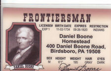 Daniel Boone - King of the Wild Frontier western Birdsboro PA Drivers License