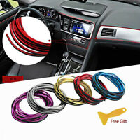 Shiny Car Flexible Interior Edge Gap Moulding Decorative Strip Trim Line 5M