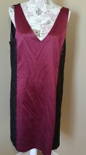 Adriana Papell dress size 16 NEW NWT red black lace formal  zipper evening plus
