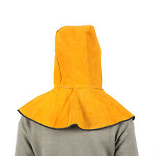 Cowhide Split Leather Welding Hood For Safety With Neck Shoulder Drape Us Stock