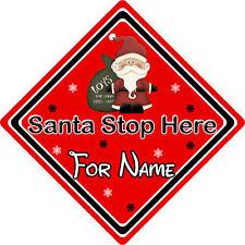 Personalizzata Babbo Natale Stop Qui Firmare finestra ~ Babbo Natale e Giocattoli-Rosso