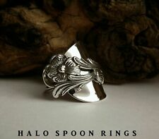 STUNNING CHUNKY SWEDISH SOLID SILVER SPOON RING 1983 AVAILABLE IN LARGER SIZES