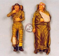 Resicast 1/35 Wounded British Soldiers Laying WWII (2 Figures) [Resin] 355526
