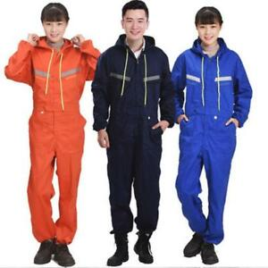 Men Women Coveralls Overalls Workwear Mechanic Jumpsuit Protective Reflective ##