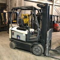 2014 Crown FC4525-50 5000lbs Used Forklift Triple Mast Sideshift Electric