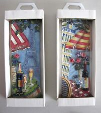 2x Ceramic Hanging Wall Art Decoration 3D Decor Plaques Home Garden Cafe Paris