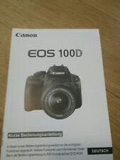 canon EOS 100D Bedienungsanleitung Gebrauchsanleitung Manual Camera Foto