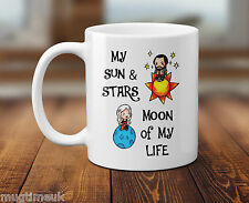 Game of Thrones inspired mug cup - Moon, Sun & Stars - Love -Ceramic 320ml