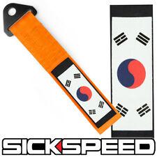 ORANGE KOREAN FLAG HIGH STRENGTH RACING TOW STRAP FRONT REAR TOW HOOK