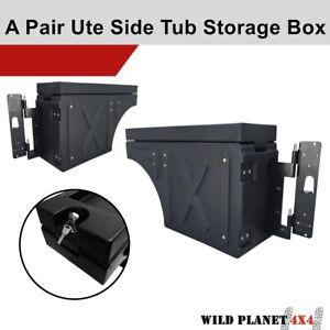 Ute Tub Universal Lockable Side Tool Box Storage Pair Swing Case A Pair