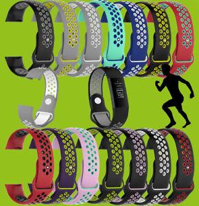 Hochwertiges Kunststoff Silikon Uhr Armband für Fitbit Charge 3 + 4 Versa 2 + 3