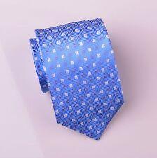 Light Blue Luxury Weave Patterned Wide Neck Tie Sexy Designer Fashion Necktie A+