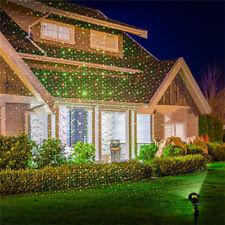 Garden Outdoor Landscape Backgroud Laser Lights Red Green Beam Projector Xmas UK