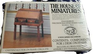 New Sealed The House of Miniatures Chippendale Desk On frame Circa 1770 No 40067