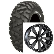 "(4) MotoSport Alloys 14"" MSA Rims Wheels & Maxxis 26"" Bighorn Big Horn Tires"