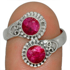Ruby 925 Sterling Silver Jewelry Ring s.9 AR165100 174J