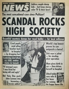 Weekly World News Feb 22 1983 Scandal Rocks High Society - Man Outdrinks Horse