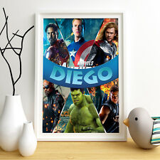 AVEGNERS Marvel Personalised Poster A4 Print Wall Art Any Name
