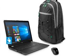 "New HP 15-bw032wm 15.6"" Touch Laptop AMD Quad Core A12 8GB 1TB DVD Win10 Bundle"