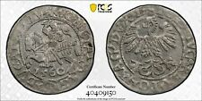 Lithuania 1/2 groschen Sigismund II Augustus 1560 uncirculated PCGS MS62