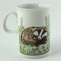 Vintage DUNOON Ceramics Scotland Mug Tea Coffee Cup Badger 8oz