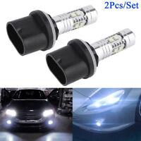 2Pcs/Set 880 6000K Super White 50W LED Headlight Bulbs Kit for Car Fog Light DRL