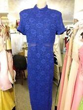 Susan Roselli Royal Blue Lace SHEATH Dress Size 12
