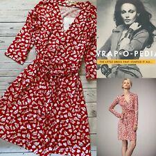 £360 Iconic DVF Dress, Diane Von Furstenberg Dress, Julian Silk Dress, Size 14