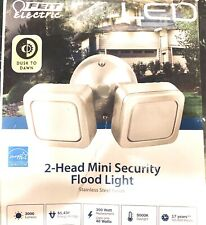 Feit Electric 2 Head LED Mini Security Light Model 73708 Stainless Steel