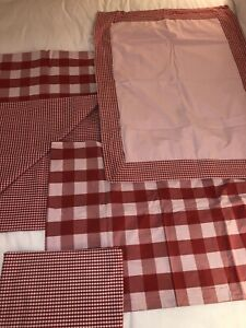 The Little White Company Red Gingham Oxford Pillowcase