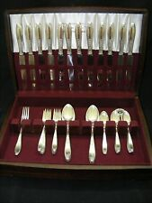 1847 Rogers Ambassador Silverplate Flatware 42pc Set Chest / Box 1900-1940