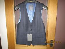 John Lewis Homme Gilet blanchi Glen Carreaux Bleu Marine Taille 40R Nouveau RRP £ 60.00