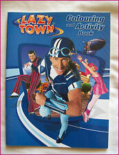 LAZY TOWN - COLOURING & ACTIVITY BOOK  - Awesome 24pg Sportacus LAZYTOWN - New